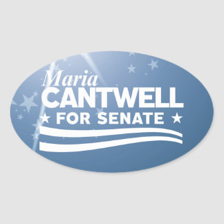 Maria Cantwell Oval Sticker