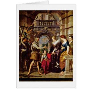 Maria De Medici Regent Of France By Peter Rubens Card