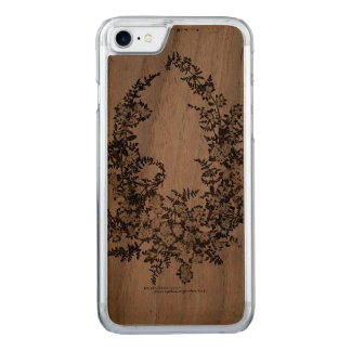 Maria Flowers Slim Walnut iPhone 6 Carved iPhone 8/7 Case