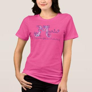 Maria girls M name meaning monogram tee