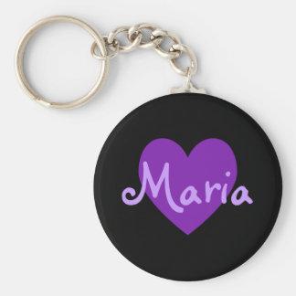 Maria in Purple Basic Round Button Keychain