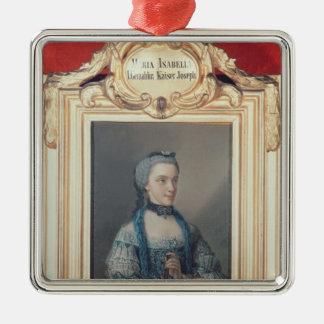 Maria Isabella of Parma Silver-Colored Square Ornament
