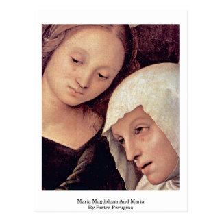 Maria Magdalena And Maria By Pietro Perugino Postcard