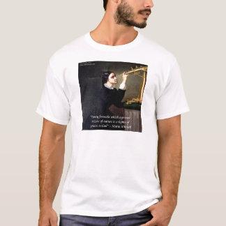 "Maria Mitchell ""Nature/God"" Wisdom Quote T-Shirt"