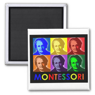 Maria Montessori Pop-Art Magnet