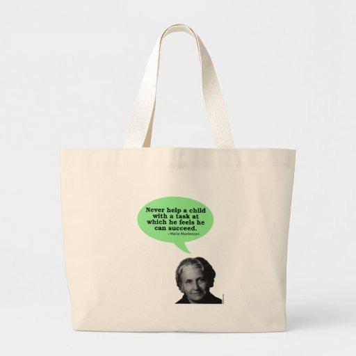 Maria Montessori Quote Tote Bag