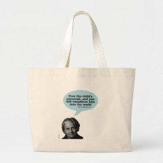 maria montessori quote bag