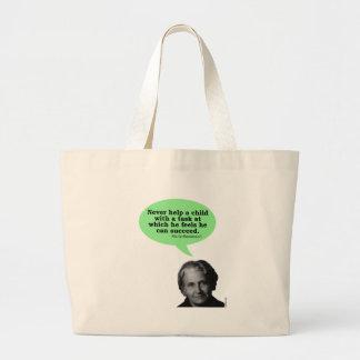 Maria Montessori Quote Jumbo Tote Bag