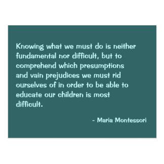Maria Montessori Quote No. 2 Post Card