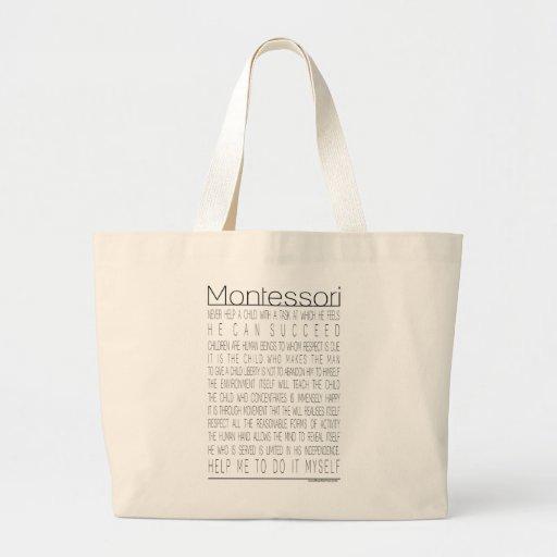 Maria Montessori Quotes Canvas Bag
