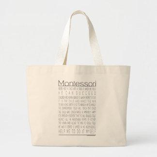 Maria Montessori Quotes Jumbo Tote Bag