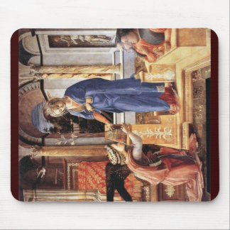 Maria Proclamation With DonorsBy Lippi Fra Filippo Mouse Pad