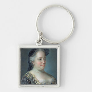 Maria Theresa, Empress of Austria, 1762 Silver-Colored Square Keychain