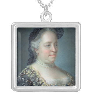 Maria Theresa, Empress of Austria, 1762 Silver Plated Necklace