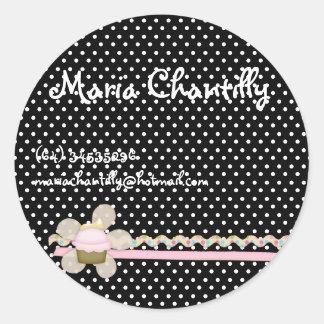 Maria whipped cream round sticker