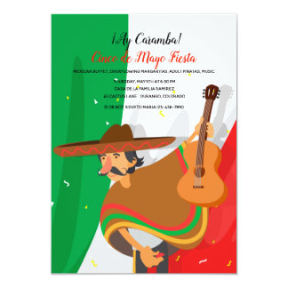 Mariachi Cinco de Mayo Invitation