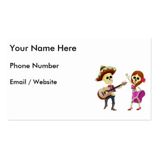 Mariachi Dancing Couple Day of the Dead Pack Of Standard Business Cards