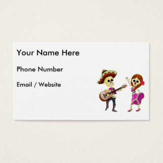 Mariachi Dancing Couple Day of the Dead Business Card