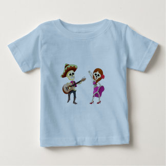 Mariachi Dancing Day of the Dead Couple Baby T-Shirt
