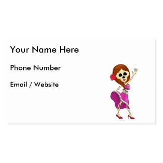 Mariachi Female Sugar Skull Pack Of Standard Business Cards