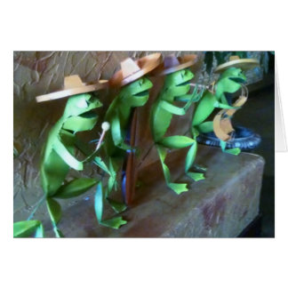 MARIACHI FROGS SAY HAPPY BIRTHDAY CARD