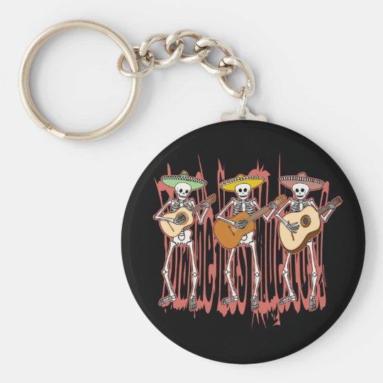 Mariachi Skeleton Trio Keychain