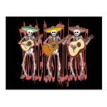 Mariachi Skeleton Trio Postcard