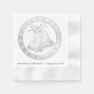 Mariage Bells blanc Serviettes Jetables