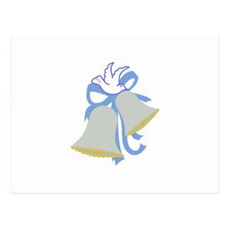 Mariage Bells de colombe Cartes Postales
