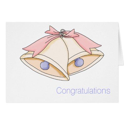 Mariage Bells simple épousant la carte de voeux