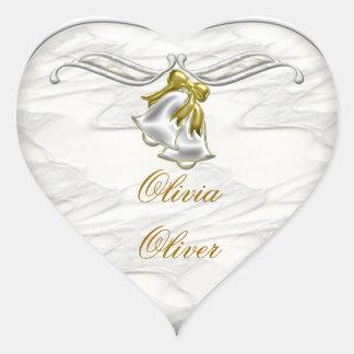 Mariage blanc sticker cœur
