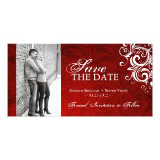 Mariage d hiver - économies de photo l invitation cartes avec photo