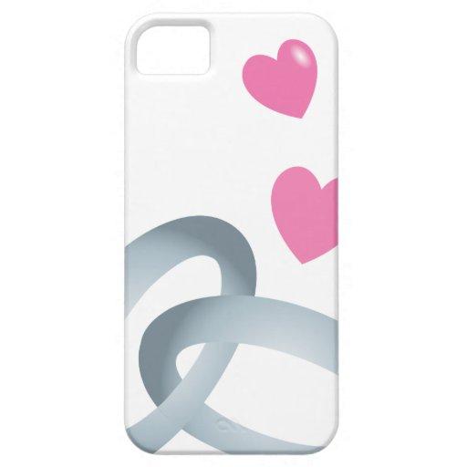 Mariage d'anneaux de noces d'argent coques iPhone 5 Case-Mate