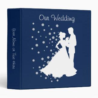 Mariage de bleu marine de silhouettes classeur vinyle