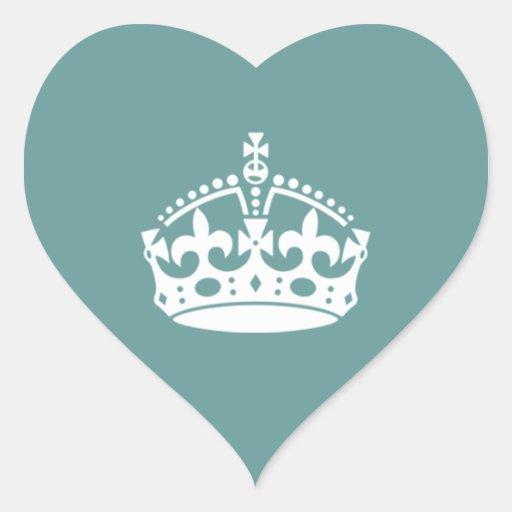 Mariage de couronne de Tudor Autocollant En Cœur