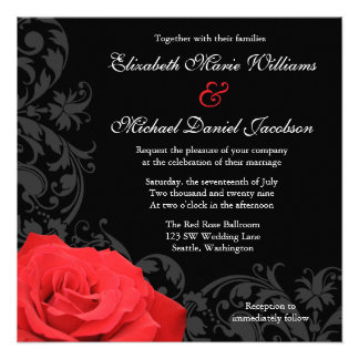 Mariage de Flourish de rose rouge