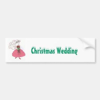 Mariage de Noël Autocollant Pour Voiture