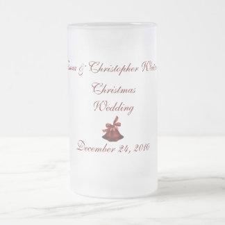 "Mariage de Noël des __"" Mug En Verre Givré"