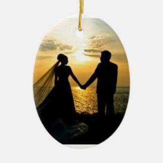 Mariage de plage de lever de soleil décorations pour sapins de noël