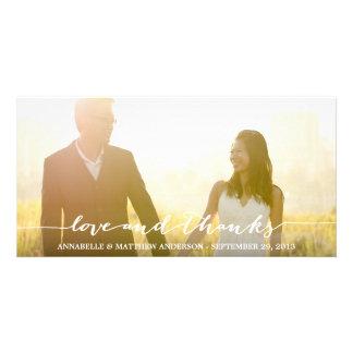 Mariage de recouvrement de manuscrit d'amour et de photocarte personnalisée