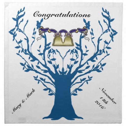 mariage de treebell serviettes