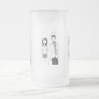 Mariage déplaisant mug en verre givré