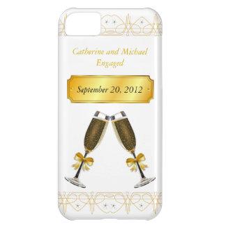 Mariage d'or de Champagne ou date en verre de fian Étuis iPhone 5C