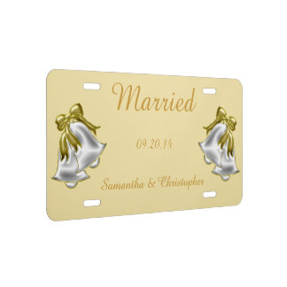 Mariage d'or plaque d'immatriculation