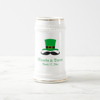 Mariage du jour de St Patrick de moustache de Chope À Bière