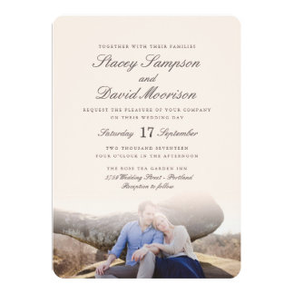 Mariage élégant de photo carton d'invitation  12,7 cm x 17,78 cm
