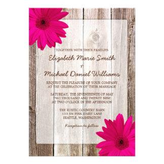 Mariage en bois de grange rustique rose de marguer