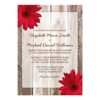 Mariage en bois de grange rustique rouge de margue