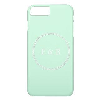 Mariage en pastel de menthe de vert de Summermint Coque iPhone 7 Plus