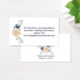Mariage floral de site Web de jardin de bleu et de Cartes De Visite